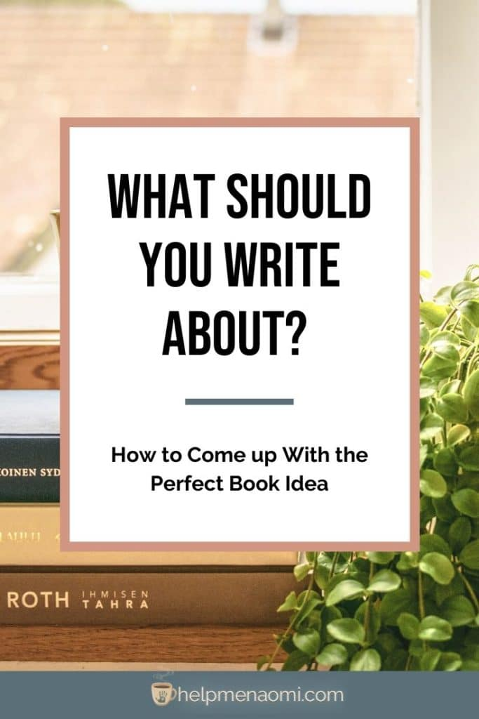 What Should You Write About? blog title overlay