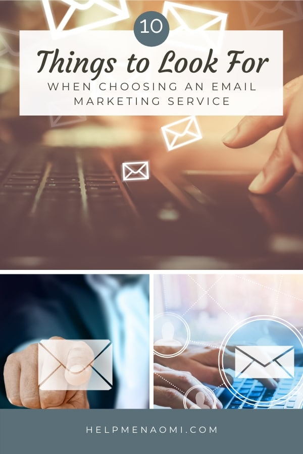 10 Things to Consider when Choosing an Email Service for Your Newsletter blog title overlay