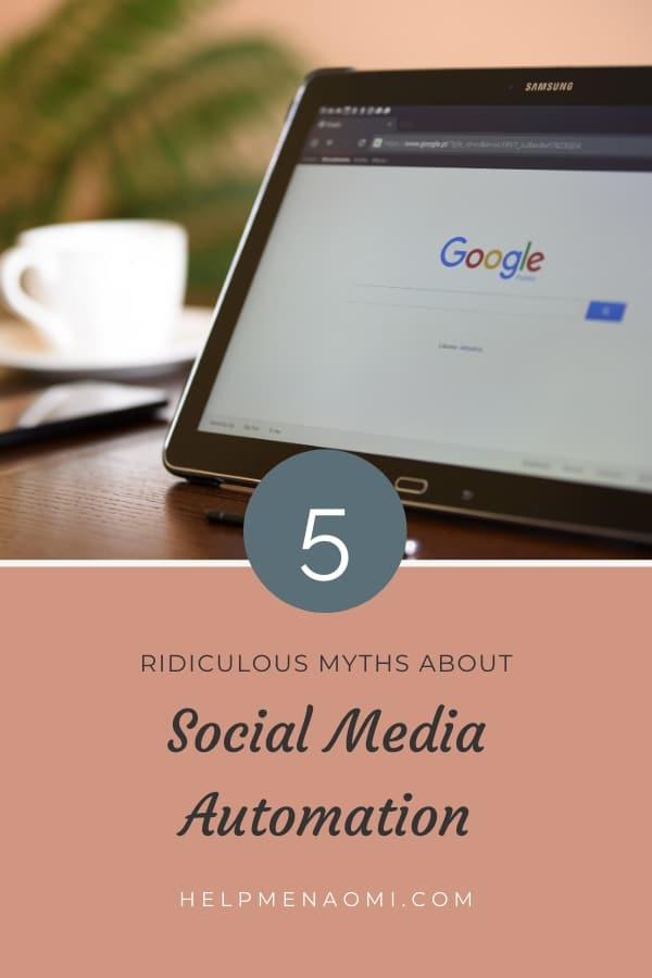 5 Ridiculous Myths about Social Media Automation blog title overlay