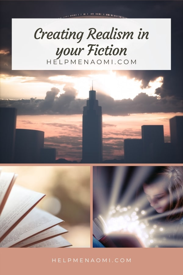 Creating Realism in your Fiction blog title overlay