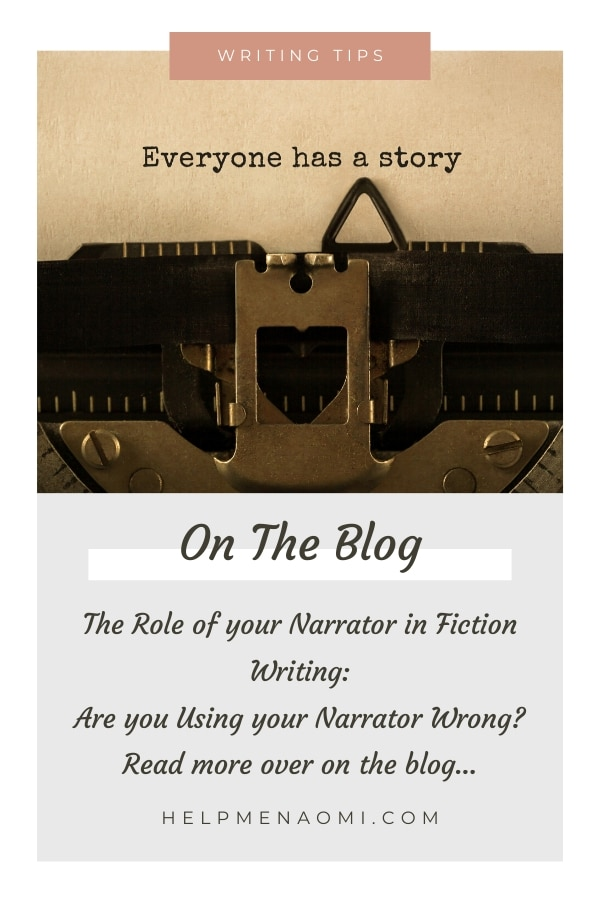 The Role of your Narrator in Fiction Writing: Are you Using your Narrator Wrong? blog title overlay