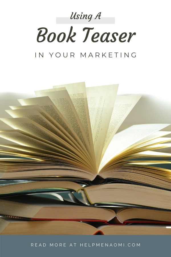 Using a Book Teaser for Marketing blog title overlay
