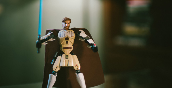 Creating Cultures in Fiction: 15 Things to Consider blog post title featuring image of Obi Wan Kenobi leggo figurine.