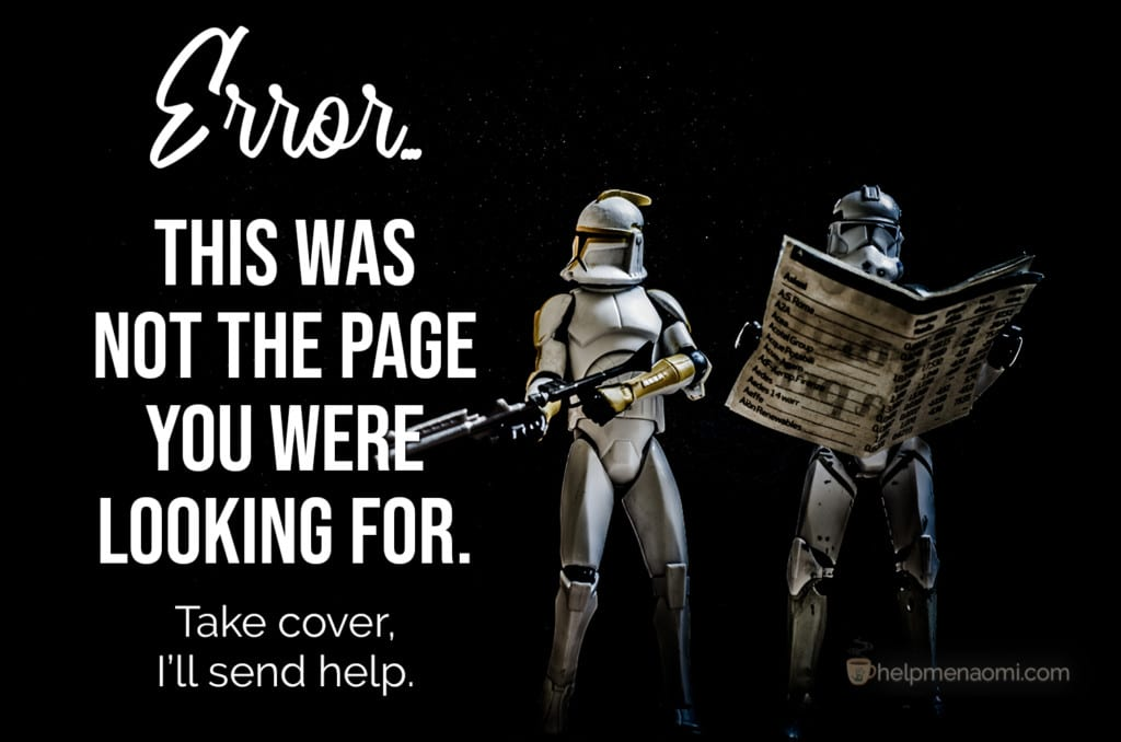 404 Error This was not the page you were looking for Stormtroopers studying a map