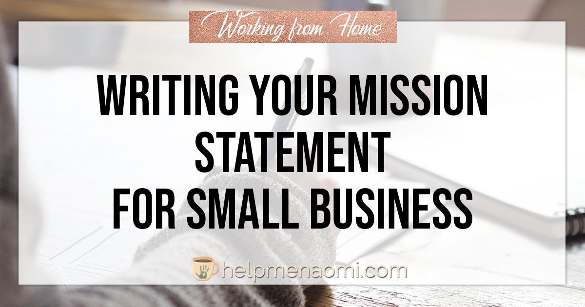 Mission statement writing service