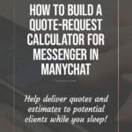 How to Build a Quote Request Calculator for Messenger in ManyChat 3