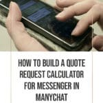 How to Build a Quote Request Calculator for Messenger in ManyChat 2