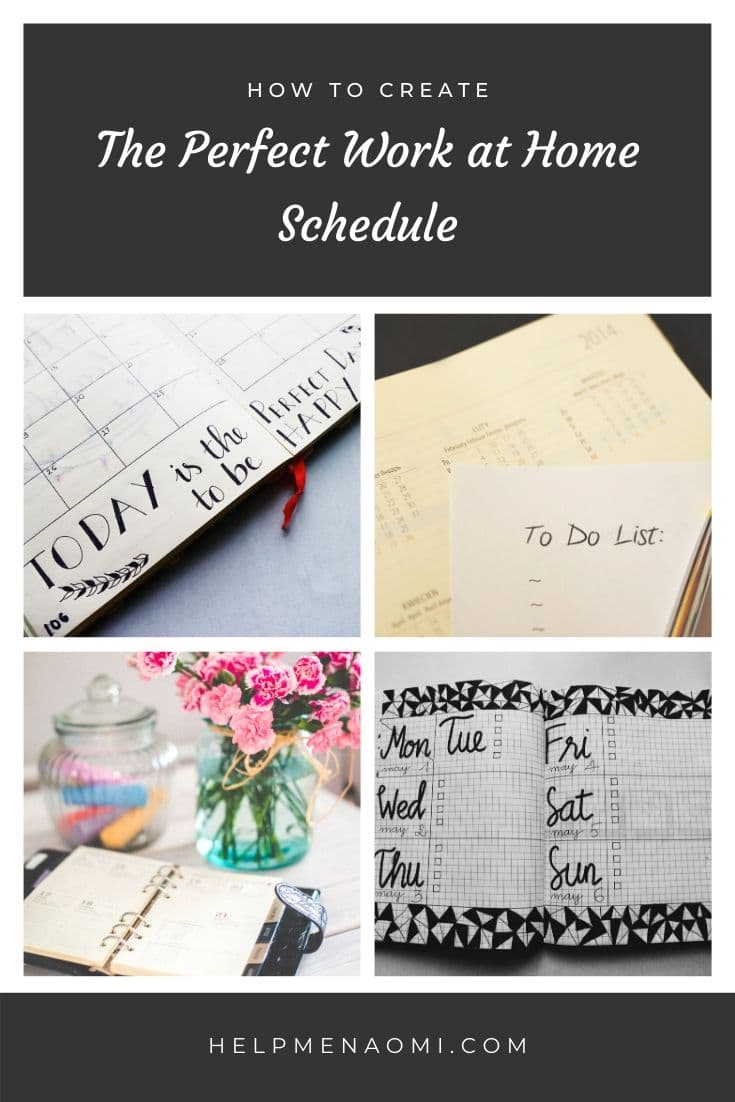 How to Create the Perfect Work at Home Schedule blog title overlay
