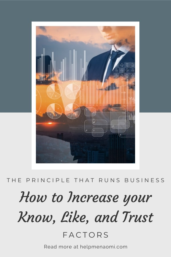 Know, Like, and Trust: the Principle that Runs Businesses blog title overlay