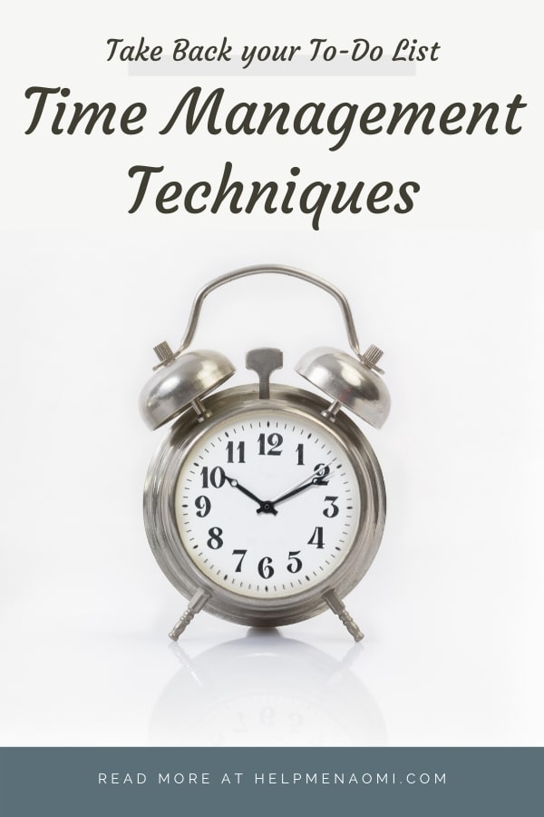Time Management Techniques blog title overlay