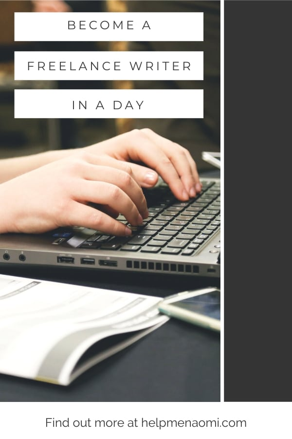 Become a Freelance Writer in a Day blog title overlay
