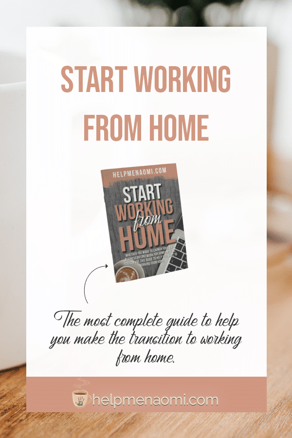 Start working from home, a complete guide, sales page image.