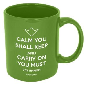 Yoda novelty coffee mug gift idea for work at home mothers