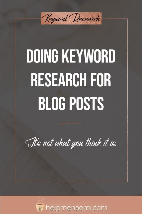 Keyword Research for Blog Posts blog title overlay
