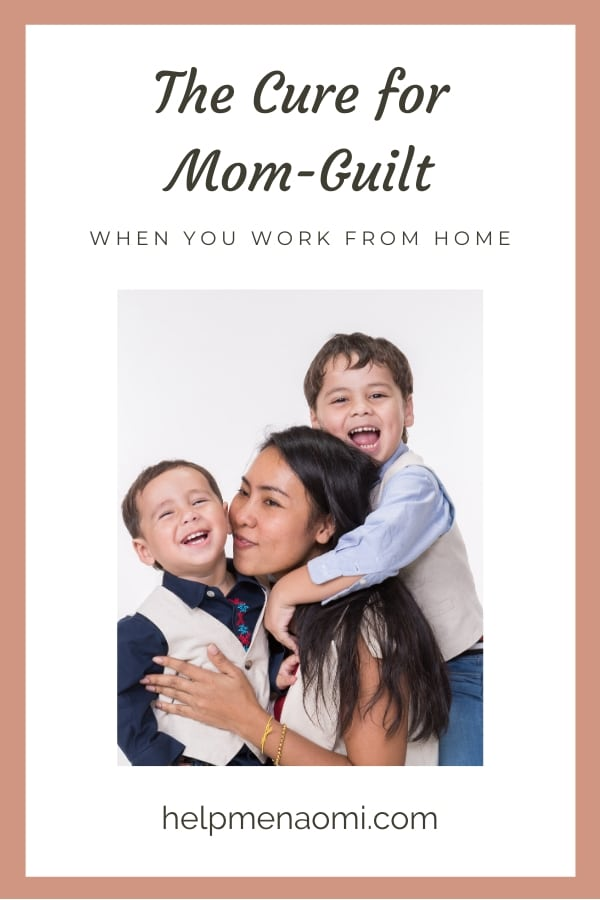 The Cure for Mom-Guilt blog title overlay