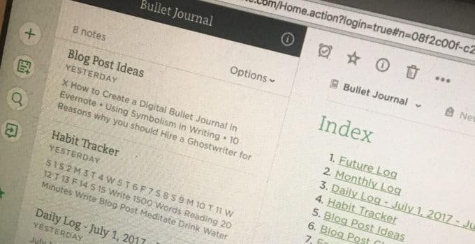 Create a Digital Bullet Journal blog title overlay