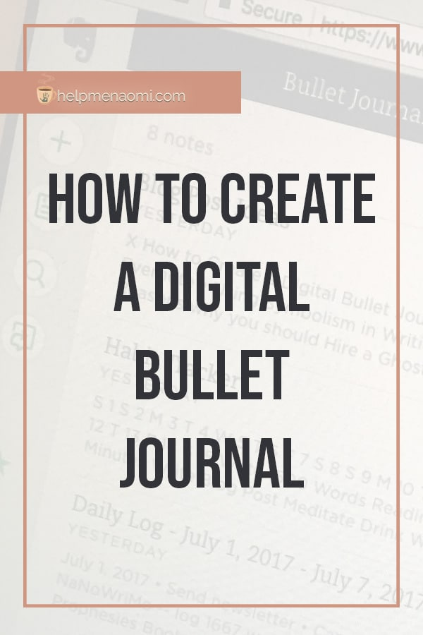 Create a Digital Bullet Journal blog title overlay