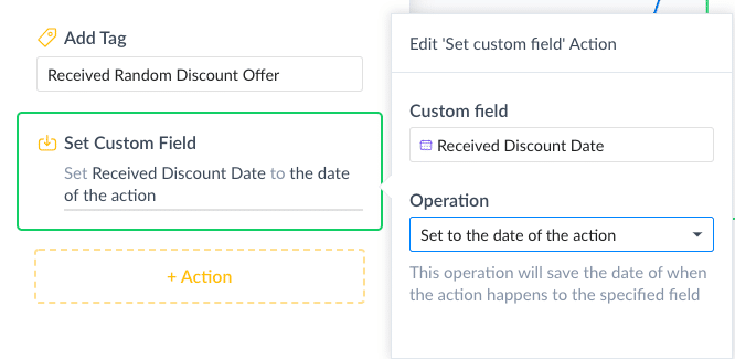 ManyChat Screenshot Set Date Field Operation