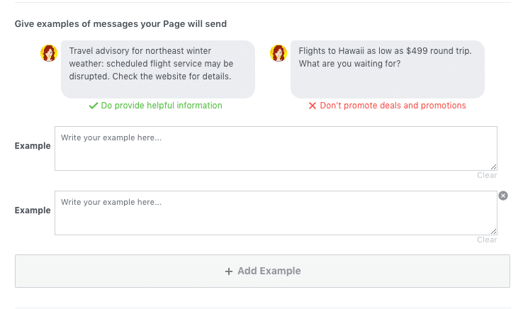 Facebook Page Screenshot Request Subscription Messaging Part 2