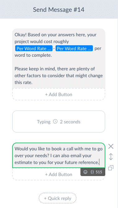 How to Build a Quote Request Calculator for Messenger in ManyChat 32