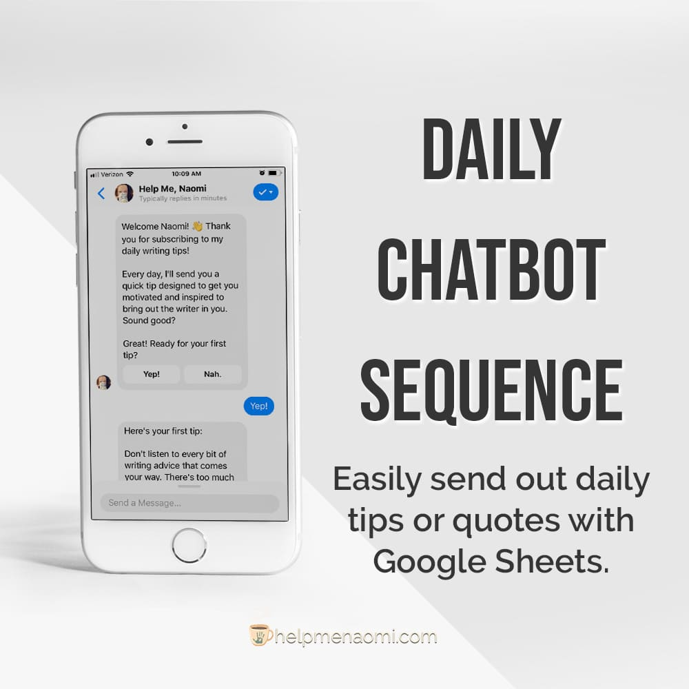 ManyChat Templates for Writers 6