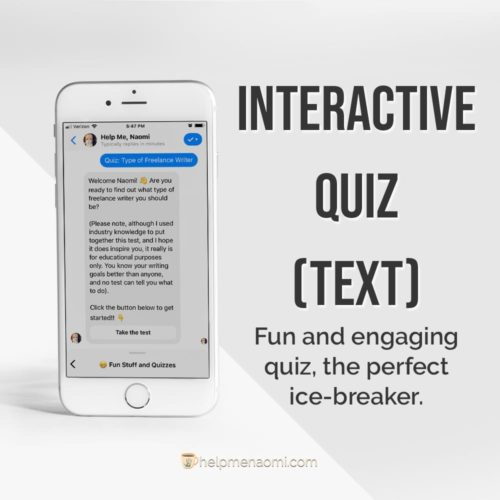 ManyChat Templates - Interactive Chatbot Quiz ad mockup