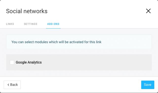Taplink Screenshot Social Networks Block Add-ons