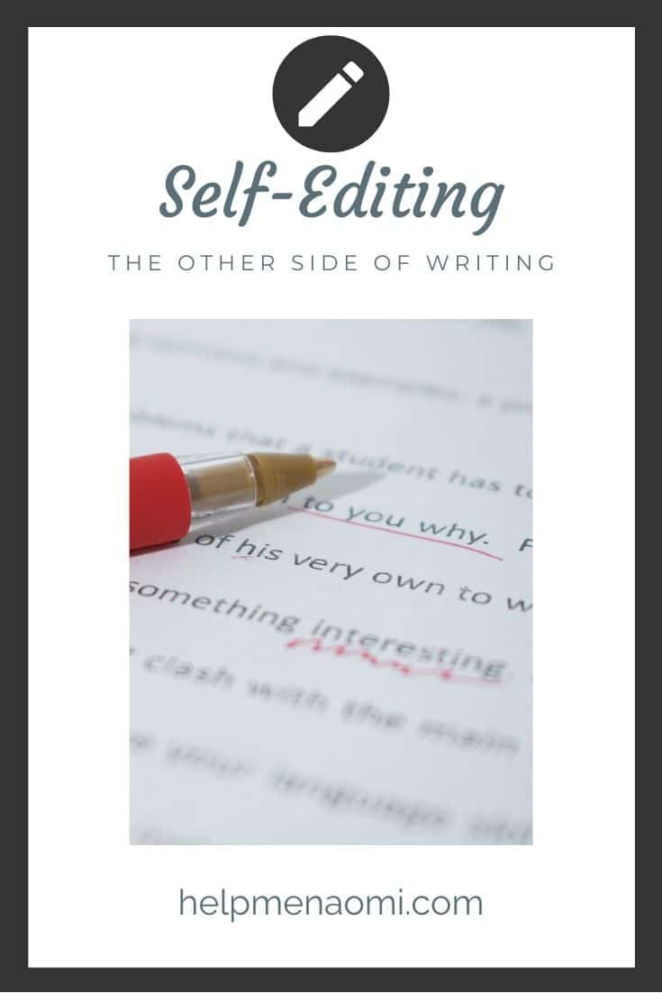 Self Editing: The other side of writing blog title overlay