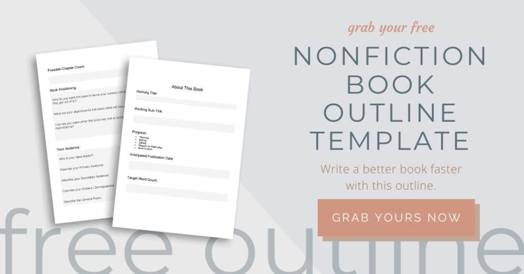 Grab Your Free Nonfiction Book Outline Template Here mockup ad