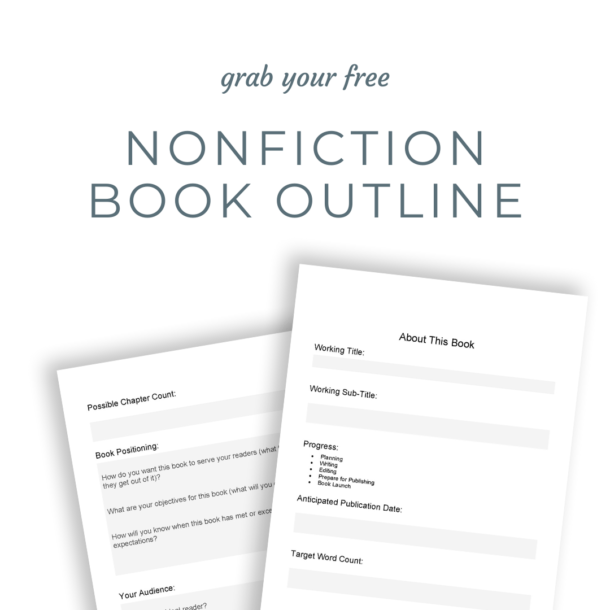 Nonfiction Book Outline Template mockup popup ad