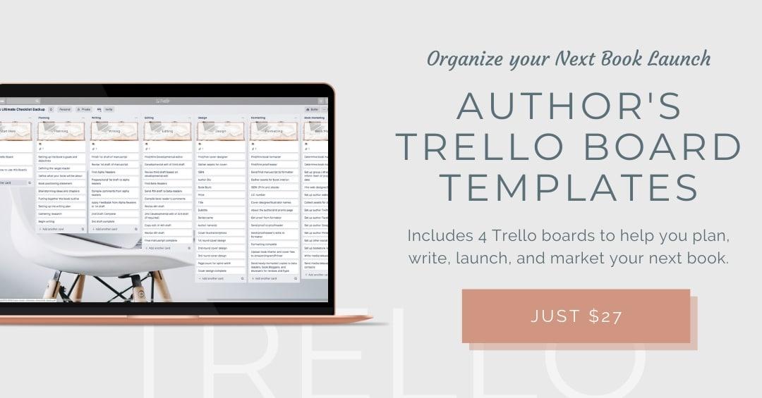 Authors Trello Board Templates ad